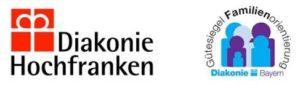 Symbol Diakonie Hochfranken und Gütesiegel Familienorientierung Diakonie Bayern